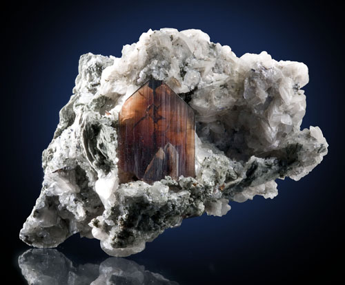 Brookite in Calcite
