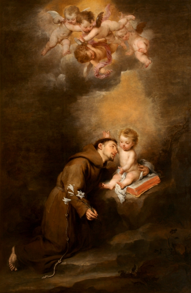 Sf. Anton de Padova cu pruncul Iisus
