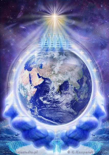 Divine Love and Light showering all over the world.