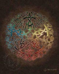 Mandala Stea cu cinci vârfuri
